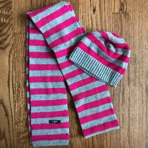 J Crew winter hat and scarf set